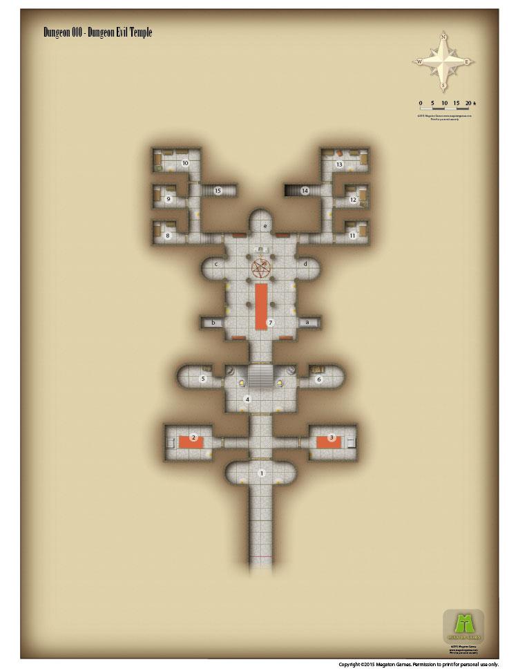 RPG Map 010 Evil Temple pdf Megaton Games DriveThruRPGcom